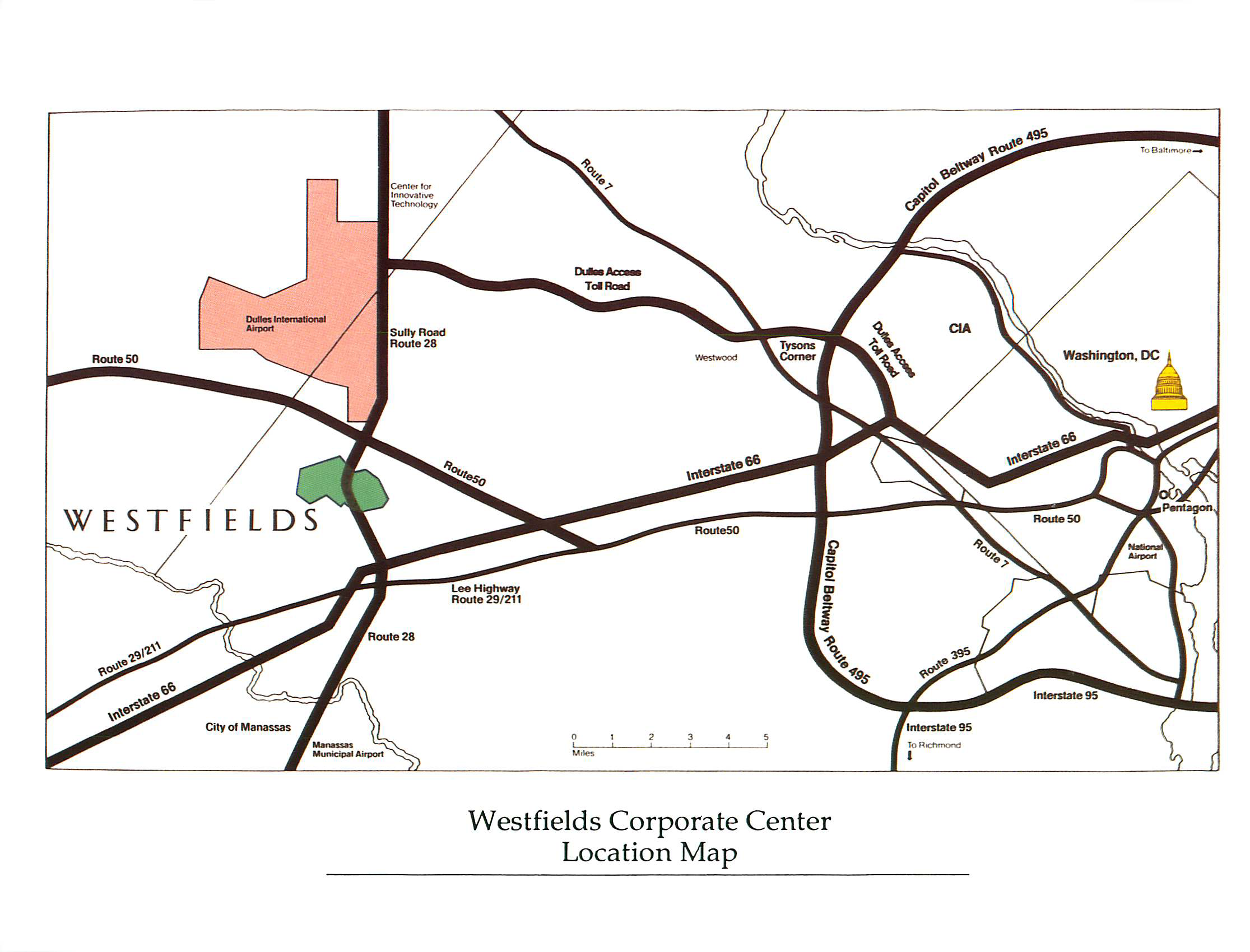 Westfields Center location map