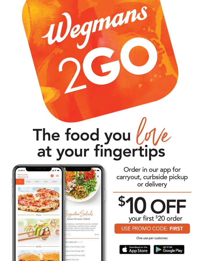Wegmans's now has Meals 2Go!
