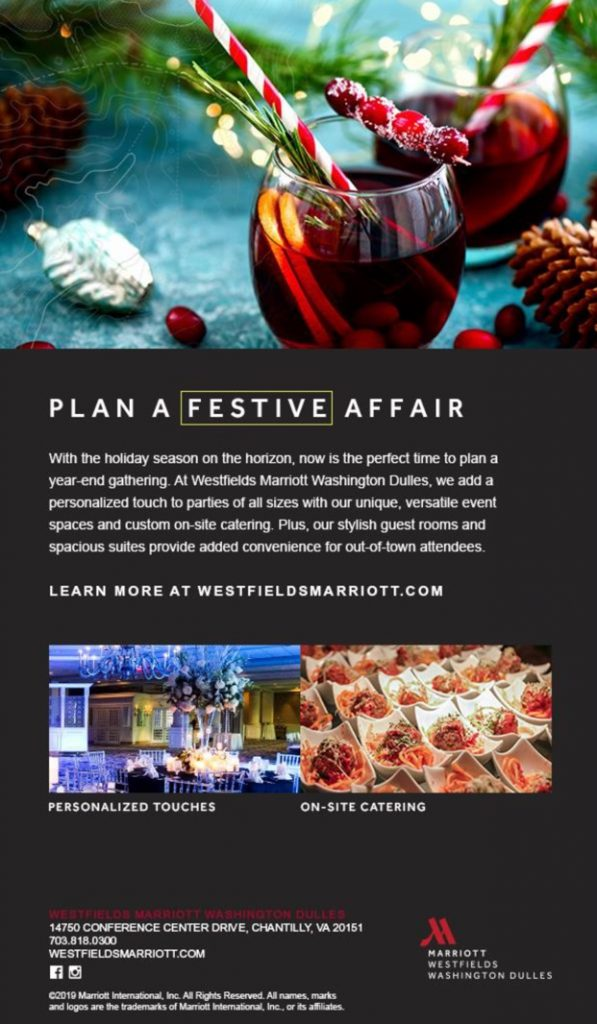 Plan A Festive Affair at Westfields Marriott